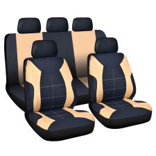CARGUARD Autós üléshuzat szett - drapp / fekete - 9 db-os - HSA008 (Autós üléshuzat szett) ülésbetét, üléshuzat
