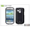CASE-MATE Samsung i8190 Galaxy S III Mini hátlap - Case-Mate Barely There Brushed Aluminium - black
