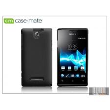 CASE-MATE Sony Xperia E (C1505) hátlap - Case-Mate Barely There - black tok és táska