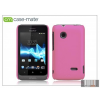 CASE-MATE Sony Xperia Go (ST27i) hátlap - Case-Mate Smooth - pink