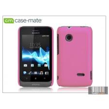 CASE-MATE Sony Xperia Go (ST27i) hátlap - Case-Mate Smooth - pink tok és táska