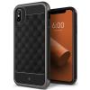 CASEOLOGY iPhone X Parallax hátlap, tok, fekete-szürke