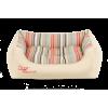 Cazo Luxury Soft Stripes Red bőr kutyaágy - 75x60cm