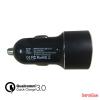 CELLECT 1.Autós töltő adapter gyorstöltő funkcióval, 2.4A