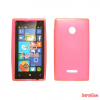 CELLECT Microsoft Lumia 550 vékony szilikon hátlap,Pink