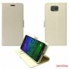 CELLECT Samsung Galaxy S6 flip oldalra nyiló tok,Fehér