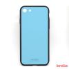 CELLECT Üveghátlapos szilikon tok, iPhone 8, Kék
