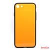 CELLECT Üveghátlapos szilikon tok, iPhone 8 Plus, Narancs