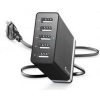 CELLULARLINE Energy Station Töltő , 5x USB, 8,2A, 40W, Fekete