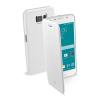 CELLULARLINE Tok, BOOK, mobiltelefonhoz, eco bőr, könyvszerűen nyitható, fehér, Samsung Galaxy S6 G920