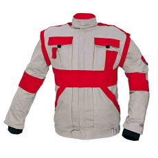 Cerva MAX kabát szürke / piros 48