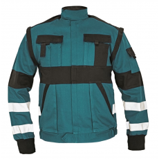 Cerva MAX REFLEX kabát zöld/fekete 48