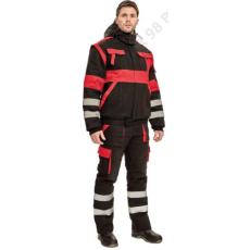 Cerva MAX WINTER RFLX dzseki, fekete/piros