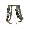 Chaba kerek szabályozható hám, szín: khaki 25mm/75cm