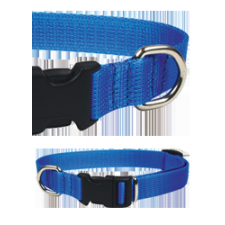 Chaba Nyakörv nylon állítható 10mm / 30cm fekete nyakörv, póráz, hám kutyáknak