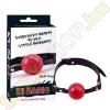 Chisa Novelties Hi Basic Ball Gag golyós szájpecek - piros/fekete