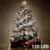 Christmas Planet Fehér Karácsonyi Fényfüzér 120 LED