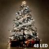 Christmas Planet Fehér Karácsonyi Fényfüzér 48 LED