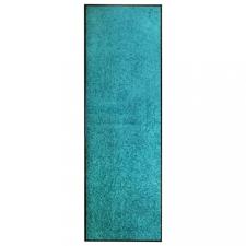 Ciánkék kimosható lábtörlő 60 x 180 cm lakástextília