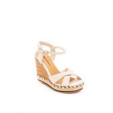 Cipő Montonelli Prémium Valódi Bőr női bézs magassarkú cipő 38 /kac