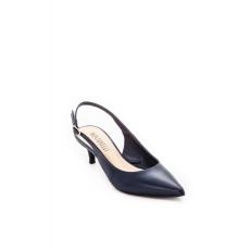 Cipő Montonelli Prémium Valódi Bőr női kék magassarkú cipő 36 /kac
