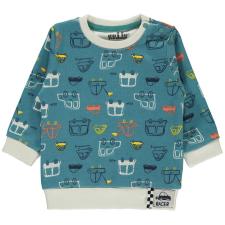 Civil Autós petrolkék pulóver gyerek pulóver, kardigán