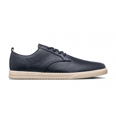 Clae Ellington Navy Milled Leather