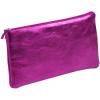 Clairefontaine bőr tolltartó 22x11 cm, lapos, pink