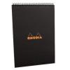 Clairefontaine Rhodia Classic fekete spirálblokk  kockás 80lap  21x29 7cm