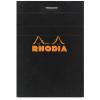 Clairefontaine Rhodia fekete jegyzetblokk  kockás 80lap  5 2x7 5cm