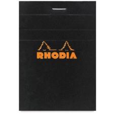 Clairefontaine Rhodia fekete jegyzetblokk  kockás 80lap  5 2x7 5cm jegyzettömb
