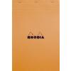 Clairefontaine Rhodia narancs jegyzetblokk  80lap  kockás 21x31 8cm