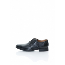 Clarks , Tilden-Walk Bőrcipő, Fekete, 6.5 (TILDEN-WALK-BLACK-LEATHER-6.5)