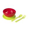 Clevamama Clevamama tapadóaljú tányér kanállal és villával