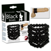 Cockring Black Beads