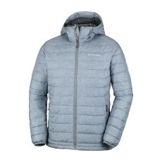 Columbia Powder Lite Hooded Jacket Grey Ash Print S