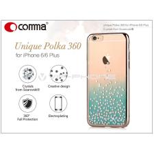 Comma Apple iPhone 6/6S hátlap Swarovski kristály díszitéssel - Comma Unique Polka 360 - green tok és táska