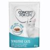 Concept for Life 12x85g Concept for Life Sensitive Cats nedves macskatáp aszpikban