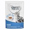 Concept for Life 24 x 85 g Concept for Life Light nedves macskatáp aszpikban