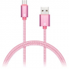 Connect IT Wirez Premium Metallic USB-C rózsa 1 m
