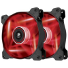 Corsair Air Series AF120 LED Red Quiet Edition PC ventilátor, 120x25 mm, 1500 RPM, Twin pack (PL_1010088_CO-9050016-RLED)