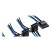Corsair Premium harisnyázott 4-tűs Molex kábel - kék / fekete