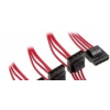 Corsair Premium harisnyázott 4-tűs Molex kábel - piros
