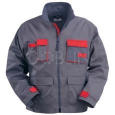 Coverguard MAGMA szürke munkaruházat piros díszítéssel, kabát, dzsekifazonú, állig érõ...