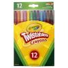 Crayola : 12 darabos csavarozható zsírkréta