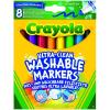 Crayola Crayola: 8 darabos extra-lemosható vastag filctoll