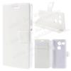 CRAZY notesz tok / flip tok - FEHÉR - asztali tartó funkciós, oldalra nyíló, rejtett mágneses záródás, bankkártyatartó zseb - LG Nexus 5X