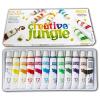 Creative Jungle 12 darabos tubusos tempera készlet kifestővel