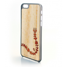 CreatiWood iPhone 6 Plus népi mintás hátlap koto/padauk fából tok és táska