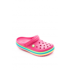 CROCS 205212-6X0 CB Rainbow Band Clog CANDY PINK